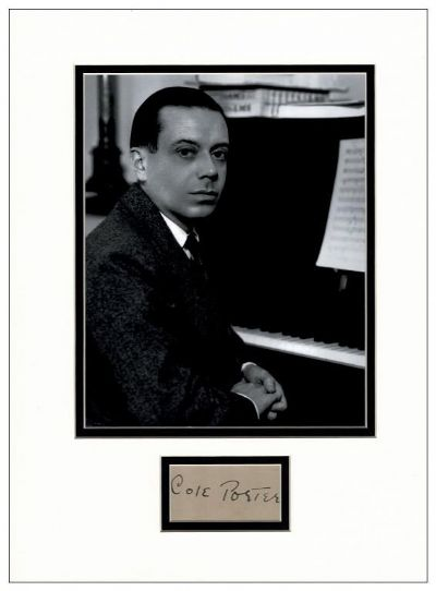 Cole Porter Autograph Signed Display